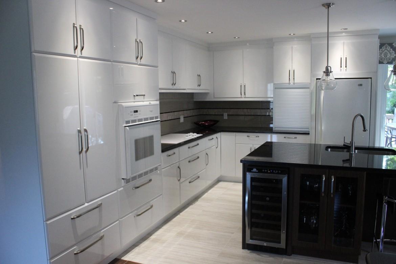 armoires de cuisine en polymère blanc lustré - cuisines despro
